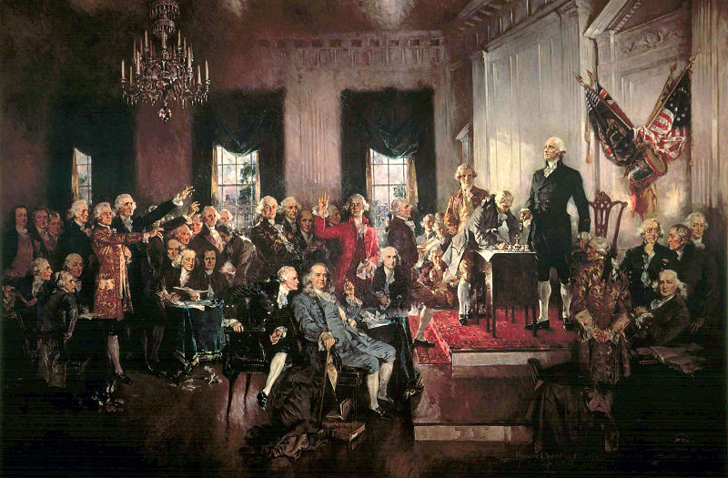 Signing of the Constitution, Howard Chandler Christy, 1940, 26ft x 18ft oil on canvas.