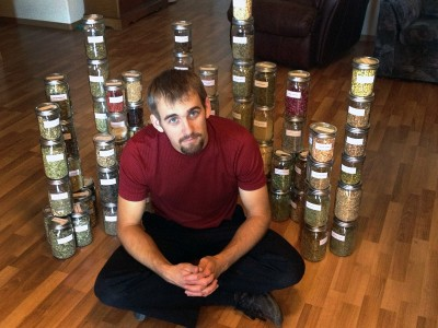 gavin seim - mason jars with herbs