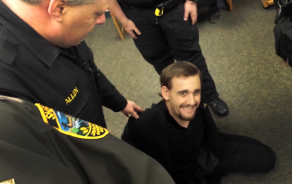 gavin seim filming his own arrest