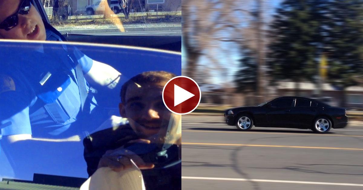 Cop Almost RUNS OVER Citizen to Escape Questions!