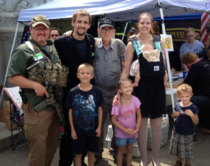 My wife Sondra and fout kids along with 3% leader Mike Vanderboegh and Oath kleeper president Stuart R