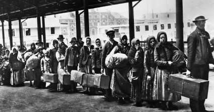 Immigrants leaving Ellis Island in the early 1900's. At times more than 10,000 immigrated in one day.