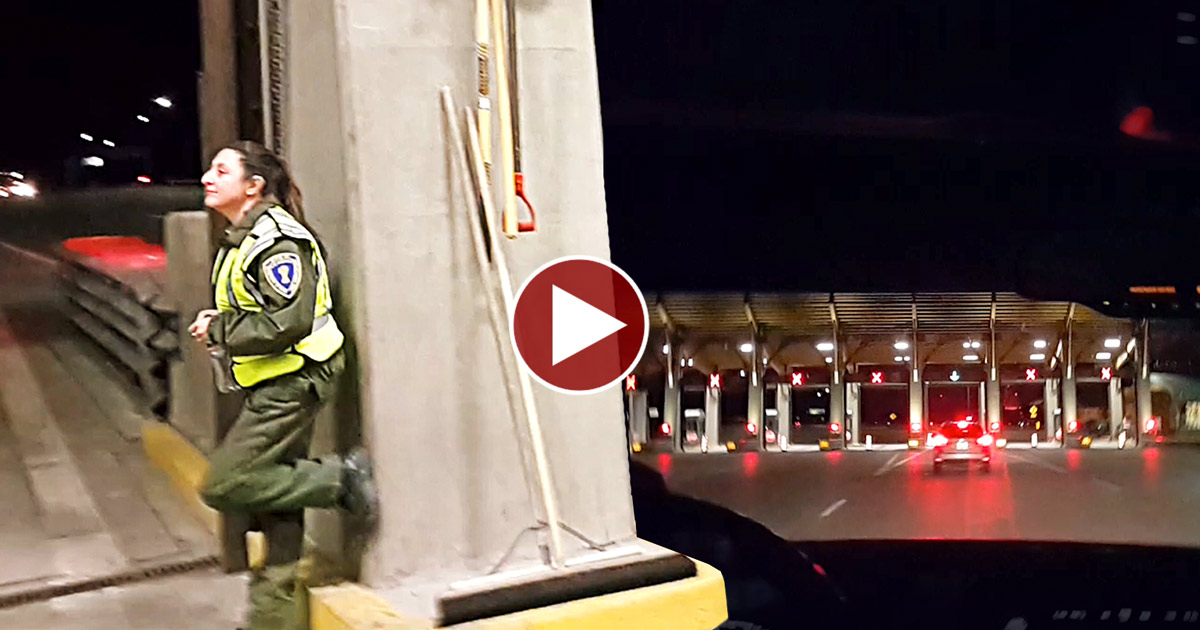 Family Politely Questions Checkpoint; Guard Runs Away.